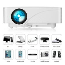 3D Full HD 1080P Portable Projector LED Multimedia Home Theater HDMI 7000 Lumens