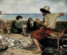 A4 Photo Millais John E 1829 1896 The Boyhood of Raleigh Millais 1908 Print Post