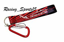 JDM Mazda Miata Wrist/Palm Lanyard Cell Holders Key Chain Carabiner - Red