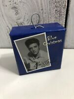 Blue Christmas Elvis Presley Christmas Ornament Holder With Pin