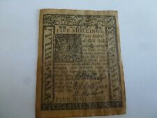 New ListingJanuary 1, 1776 5 Shillings Delaware Colonial Currency Note