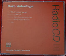 COVERDALE & PAGE - Take A Look At Yourself  UK Promo CD Single RARE Led Zeppelin