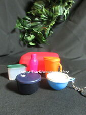 Tupperware NEW Mini Kit Oyster Case Bowl Eco Keychains Pitcher Modular Magnets 1