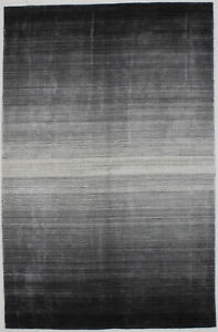 Modern Art Deco Multicolored 5X8 Wool Contemporary Area Rug Hand-Loomed Carpet