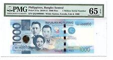 QQ 1000000 2013 PHILIPPINES 1000 Peso NGC Aquino III Super Solid No. PMG 65 EPQ