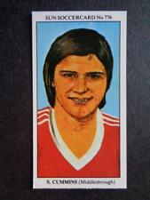 The Sun Soccercards 1978-79 - Stan Cummins - Middlesbrough #776