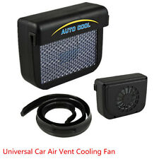 Universal Solar Powered Car SUV Air Vent Cooling Fan Ventilation Radiator System
