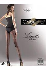 Strumpfhose Gabriella mit Naht 20 DEN Linette collant Größe S M L smoky / nero