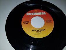 """MEN AT WORK Crazy / Down Under COLUMBIA 03303 ROCK VINYL 45 7"""""""
