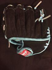 "Rawlings Savage Tee Ball Baseball Glove 10"" 5-7 Ages Right hand Throw Black Blue"