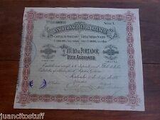1888 Uruguay BANCO CONSTRUCTOR ORIENTAL Bank bond