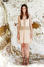 We Are Kindred Layla Slip Dress in Blush Embroidered Lace Size 12 NWT