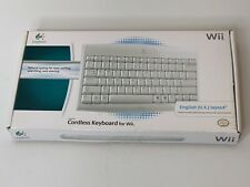 Logitech Wii and Wii U Keyboard Wireless Cordless Complete in Box