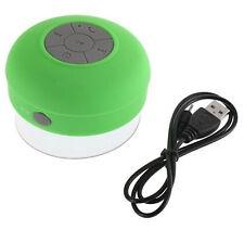 BTS-06 Waterproof Shower Bluetooth Speaker Wireless Mini USB Charger Green New