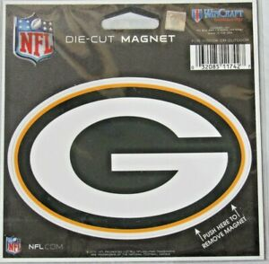 NFL Green Bay Packers 4 inch Auto Magnet Die-Cut by WinCraft