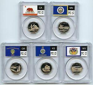 2005 S Clad State Quarter Set PCGS PR69DCAM