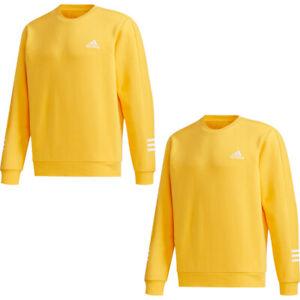Adidas Mens Fleece Tracksuit Tops Sweatshirt Crew Top Essentials Size L XL 2XL