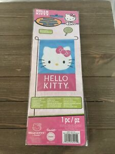 Hello Kitty Garden House Flag Pink Kitty Face  12 x 18 by Sanrio Outdoor Outdoor