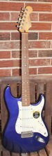 Blue 2000 Fender Stratocaster electric guitar - MIM / Mexico with gig bag