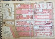 1955 CHELSEA W. 20-W 26TH ST & 7TH-11 AV MANHATTAN NY GW BROMLEY ATLAS MAP 12X17