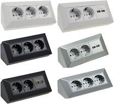 Steckdosenblock Aufbau-Montage USB Schalter Verteiler Verteilerdose