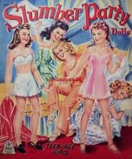 Vintage Uncut 1943 Slumber Party Paper Dolls~#1 Reproduction~Extremely Rare!