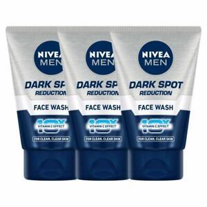 Pack 3 X NIVEA Men Dark Spot Reduction Face Wash 10x Whitening Effect 100gm USA