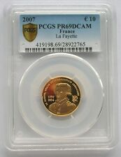 France 2007 La Fayette 10 Euro PCGS PR69 Gold Coin,Proof