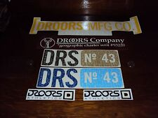 Vintage DROORS Decals, Stickers, Skateboarding, New, Clean DC Droors Clothing 43