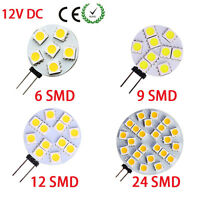 G4 5050 SMD 6/9/12/24 LED Car Boat Light Round Bulb Side-pins Lamp DC 12V W F