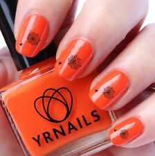 NAIL Wraps Nail Art Acqua trasferimento Decalcomanie-HALLOWEEN SPIDER in Web-H002