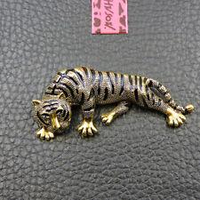 Tiger Charm Animal Brooch Pin Gift Betsey Johnson Gold Alloy Enamel Cute
