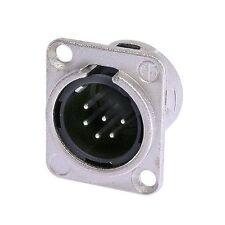 Neutrik NC6MD-L-1 XLR 6 Pin Male, Panel Mount - Solder Cups - Nickel/Silver 1128