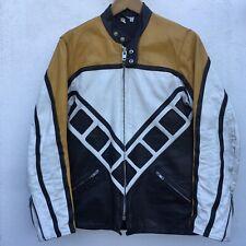 De colección chaqueta de cueros TT velocidad bloque Kenny Roberts Flat Track Cafe Racer RD350