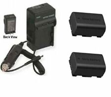 2 BN-VG114 BN-VG114E BN-VG114U BN-VG114US Batteries + Charger for JVC GZ-E200BUS