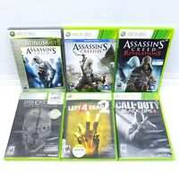 Xbox 360 Games Lot Of 6 Assassin's Creed Dishonored Left 4 Dead Call Of Duty