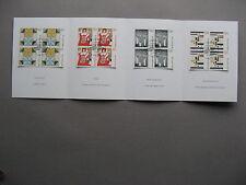 SWITZERLAND, 1st-day folder 1993, blocks of 4 CTO FDC, art