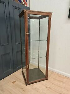 LARGE MAHOGANY ANTIQUE RETAIL GLASS DISPLAY CABINET SHOP FITTING