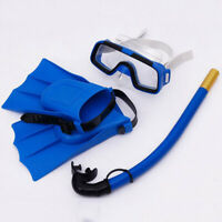 Kids Diving Mask Snorkel& Glasses&Fins Set Silicone Swimming Pool Equipment