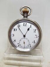 Antique solid silver gents pocket watch 1925 working ref1145