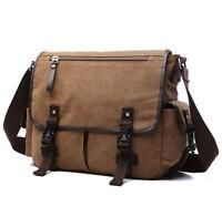 d53221b51ff31e Vintage Military Mens Canvas Crossbody Bag School Satchel Messenger  Shoulder Bag