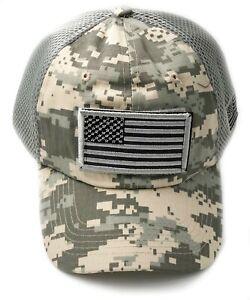 USA American Flag Baseball Cap Mesh Tactical Military Army Style Hat