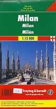 Map of Milan Italy by Freytag & Berndt