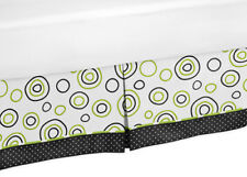 Sweet Jojo Design New Kids / Teens Spirodot Lime & Black Queen Bed Skirt