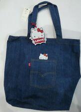 Levi's X Hello Kitty Denim Pocket Tote Bag - Jeans Blue BNWT Peeking Kitty!