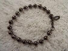 STEVE MADDEN Gunmetal Ball Chain Bracelet (C47)