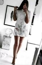 zara lace vintage high neck embroidered dress size small bnwts bloggers