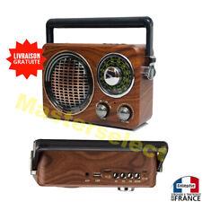 Poste radio avec FM AM Bluetooth lecteur Usb et micro SD style rétro vintage