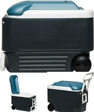 New listing Cooler wheels tow handle easy transport camp outdoor travel 56 cans storage new