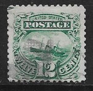 USA 1869 12c Adriatic Scott 117 very nice stamp bright colour see scans